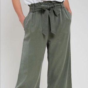 Wishlist Apparel Flowy Green Tie Pants